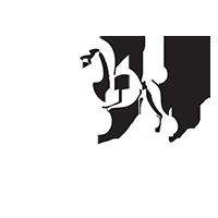 Logo alb frizerie canina alphapet